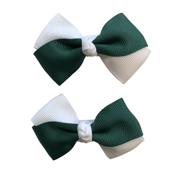 Bottle Green & White Hair Accessories - Assorted Hair Accessories - School Uniform Hair Accessories - Ponytails and Fairytales
