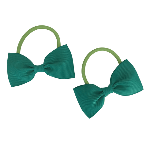 Bowtie Hair Tie (2pc) - hair ties - School Uniform Hair Accessories - Ponytails and Fairytales