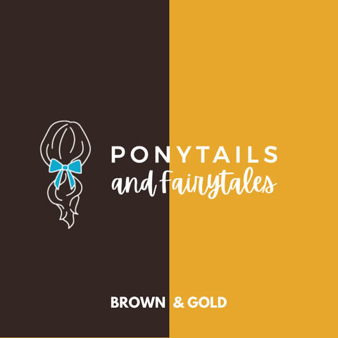 Brown & Gold Hair Accessories Assorted Hair Accessories School Ponytails - Colours