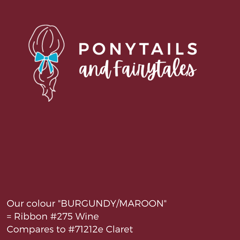 Burgundy Maroon Hair Accessories - Assorted Hair Accessories - School Uniform Hair Accessories - Ponytails and Fairytales