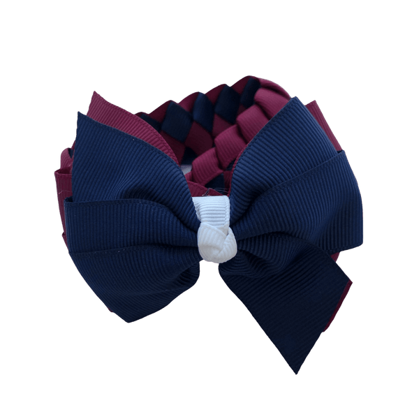 Burgundy Maroon & Navy & White Hair Accessories - Assorted Hair Accessories - School Uniform Hair Accessories - Ponytails and Fairytales