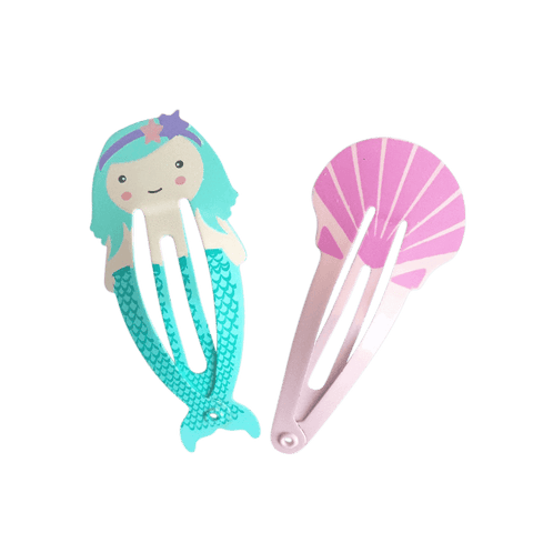 Calypso the Mermaid Snap Clips (2pc) - Ponytails and Fairytales