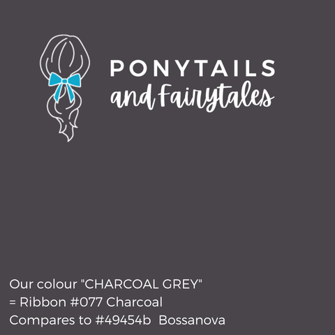 Charcoal Grey Hair Accessories - Ponytails and Fairytales