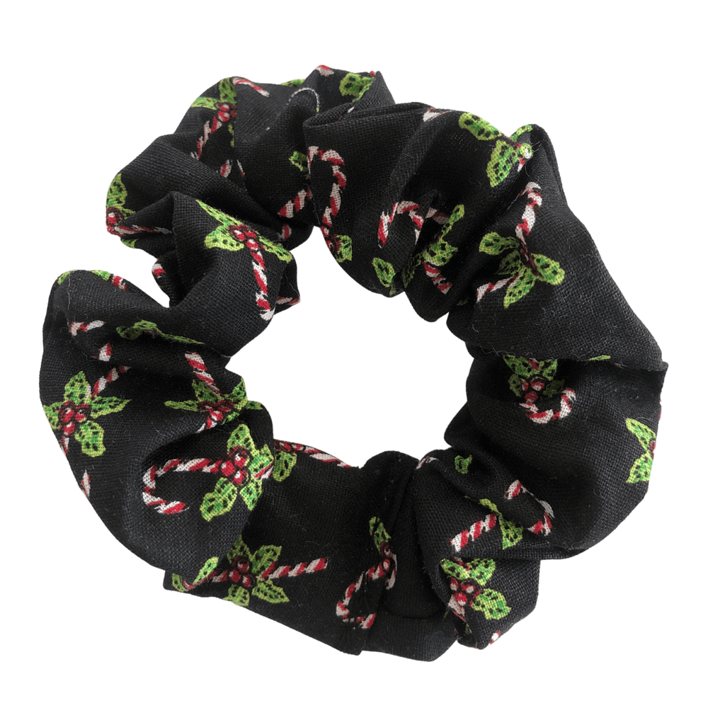 Christmas Scrunchie - Black hair ties Ponytails and Fairytales