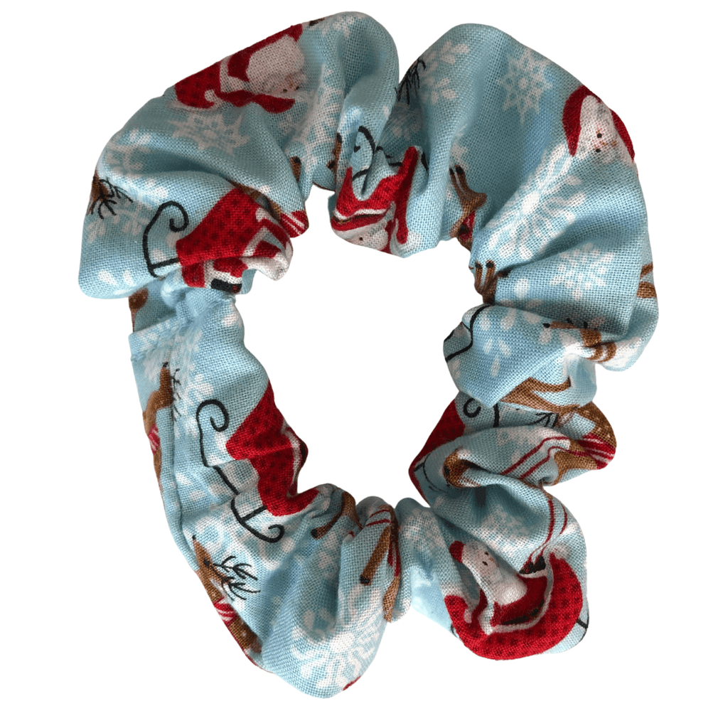Christmas Scrunchie - Blue hair ties Ponytails and Fairytales