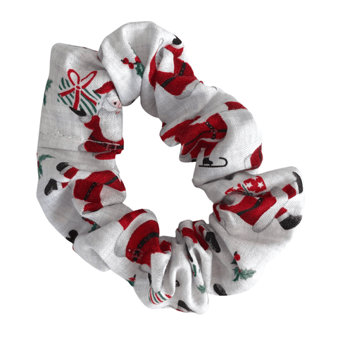 Christmas Scrunchie - White hair ties Ponytails and Fairytales