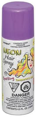 Coloured Hair Spray 85-100g - Washable and temporary - School Uniform Hair Accessories - Ponytails and Fairytales