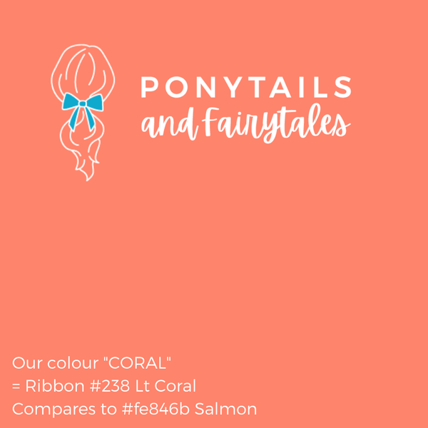 Coral Hair Accessories Assorted Hair Accessories School Ponytails - Colours