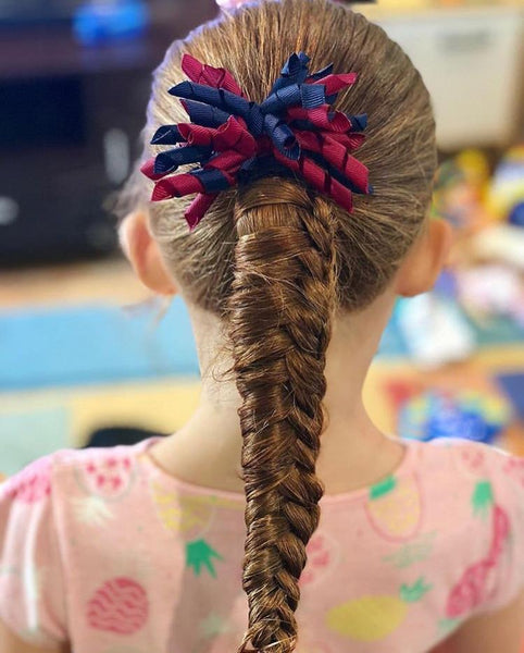 Curly Tie - Combined Colours - hair ties - School Uniform Hair Accessories - Ponytails and Fairytales