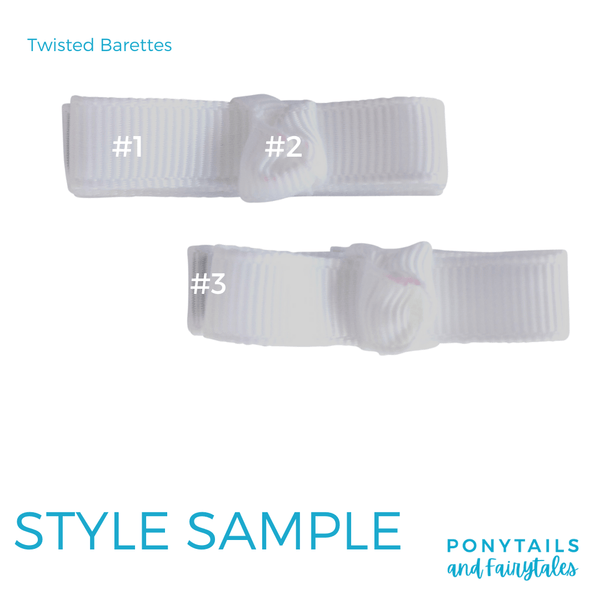 Custom Colours: Choose Your Own (2) Assorted Hair Accessories School Ponytails - Colours Barette with a Twist (2pc)