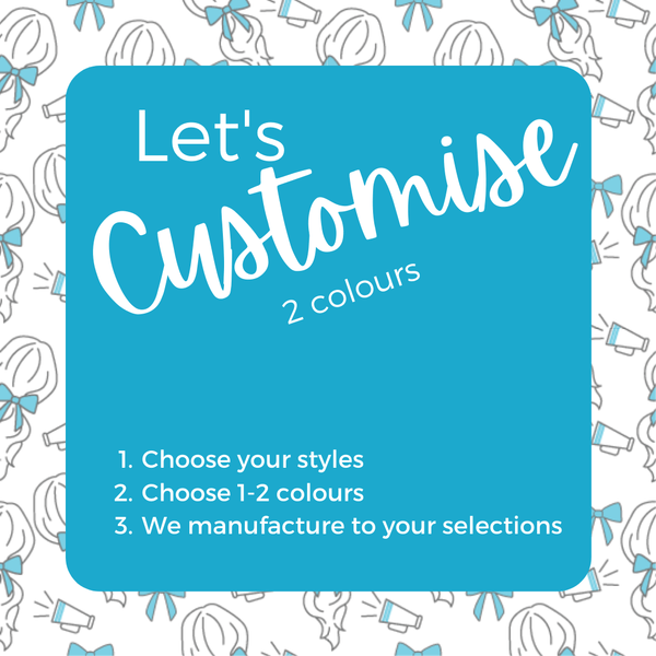 Custom Colours: Choose Your Own (2) - Assorted Hair Accessories - School Uniform Hair Accessories - Ponytails and Fairytales