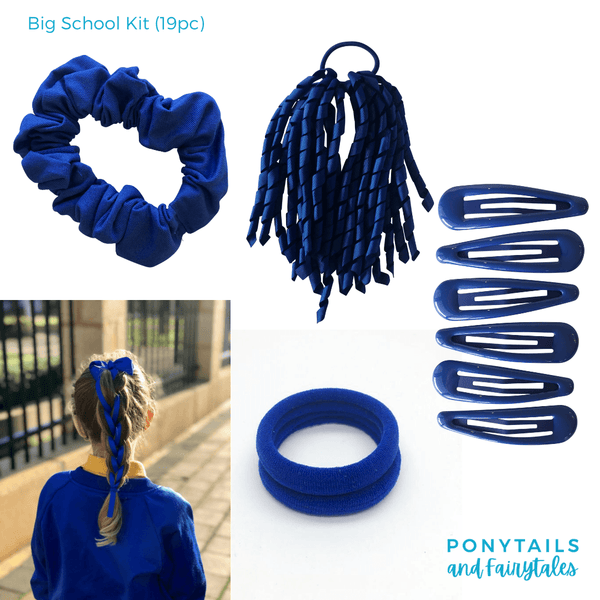 Custom Colours: Choose Your Own (3) - Assorted Hair Accessories - School Uniform Hair Accessories - Ponytails and Fairytales