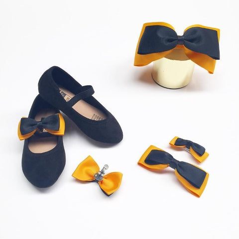 Emma Shoe Bow (2pc) - Shoe bow - School Uniform Hair Accessories - Ponytails and Fairytales