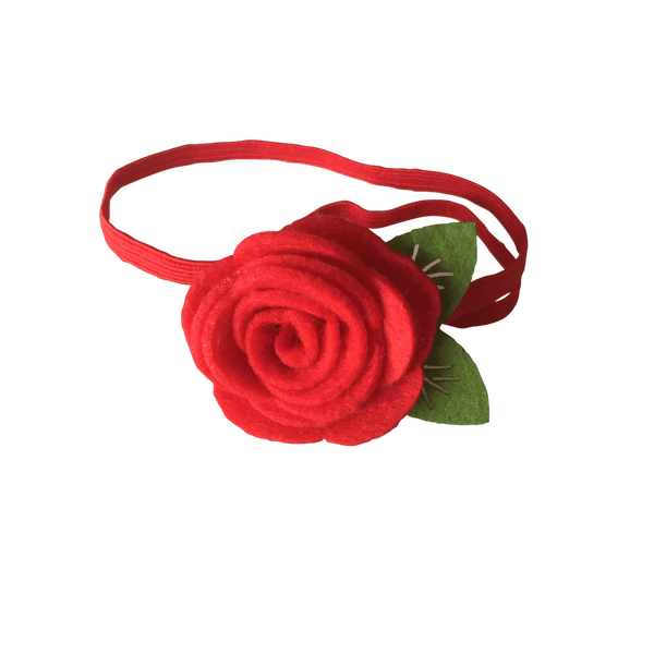 Felt Rose Headband - clearance - School Uniform Hair Accessories - Ponytails and Fairytales