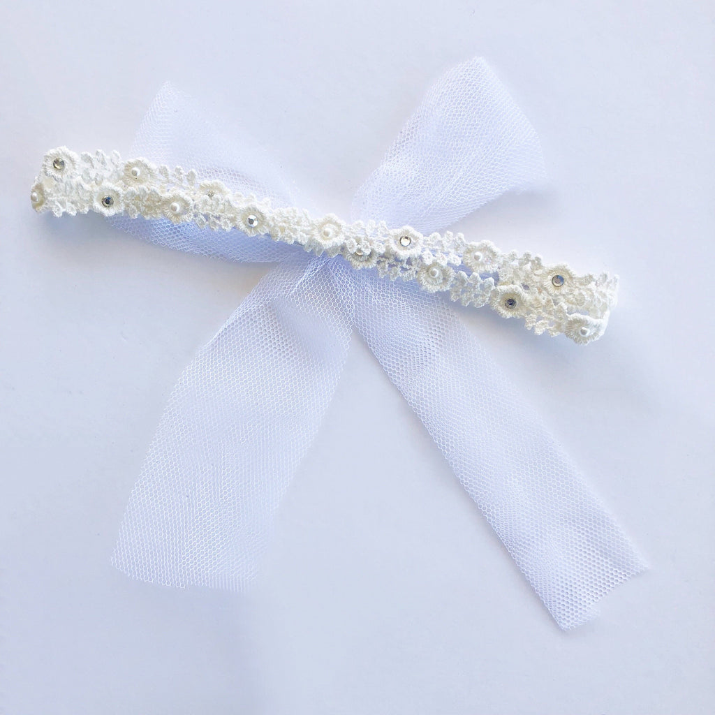 Flower Girl Headband - Ivory - Headbands - School Uniform Hair Accessories - Ponytails and Fairytales