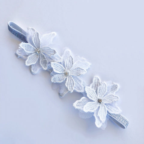 Flower Girl Headband - White - Headbands - School Uniform Hair Accessories - Ponytails and Fairytales