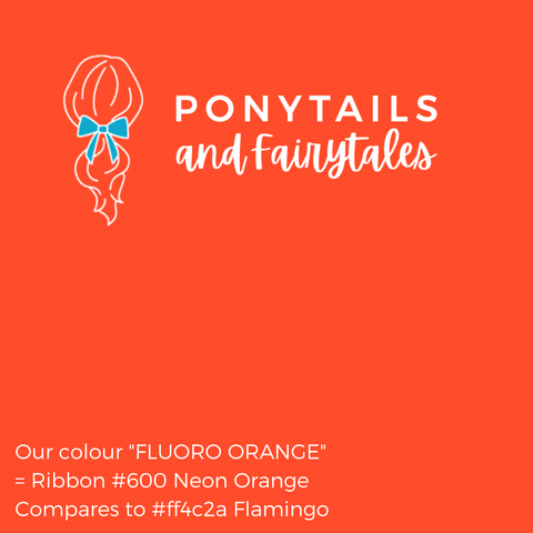 Fluoro Orange Hair Accessories Assorted Hair Accessories School Ponytails - Colours