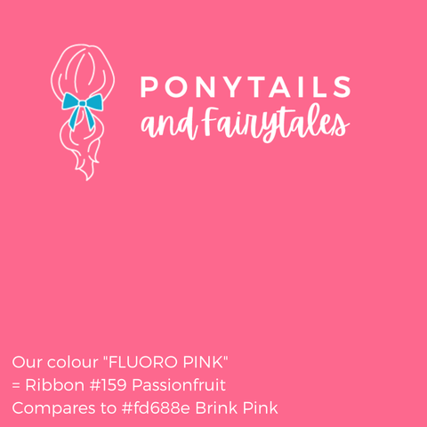 Fluoro Pink Hair Accessories Assorted Hair Accessories School Ponytails - Colours