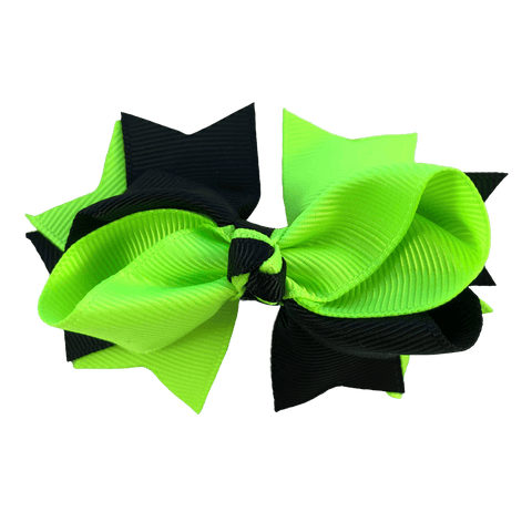 Fluoro Yellow & Black Hair Accessories - Assorted Hair Accessories - School Uniform Hair Accessories - Ponytails and Fairytales