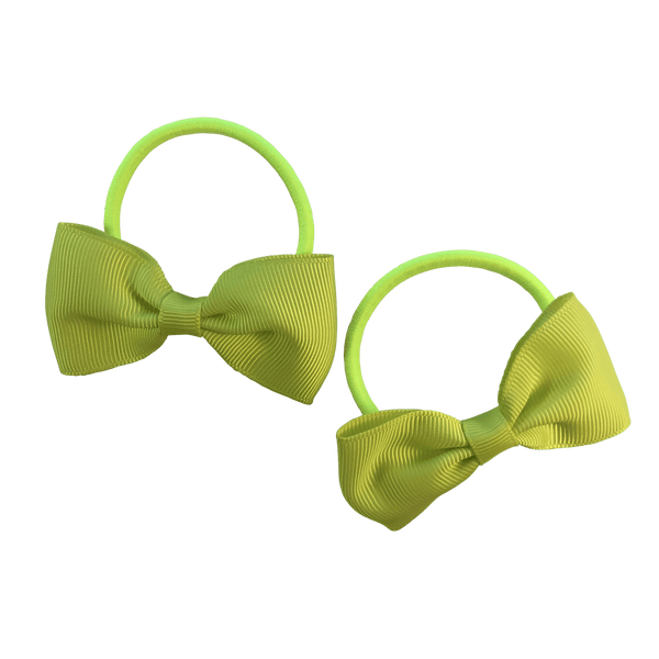 Fluoro Yellow Hair Accessories - Assorted Hair Accessories - School Uniform Hair Accessories - Ponytails and Fairytales