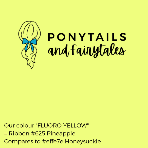 Fluoro Yellow Hair Accessories Assorted Hair Accessories School Ponytails - Colours