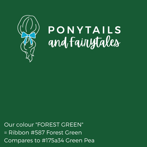 Forest Green Hair Accessories - Assorted Hair Accessories - School Uniform Hair Accessories - Ponytails and Fairytales