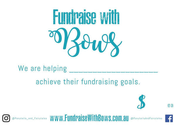 Fundraise with Bows - Fundraising Box (50pc) - box - School Uniform Hair Accessories - Ponytails and Fairytales
