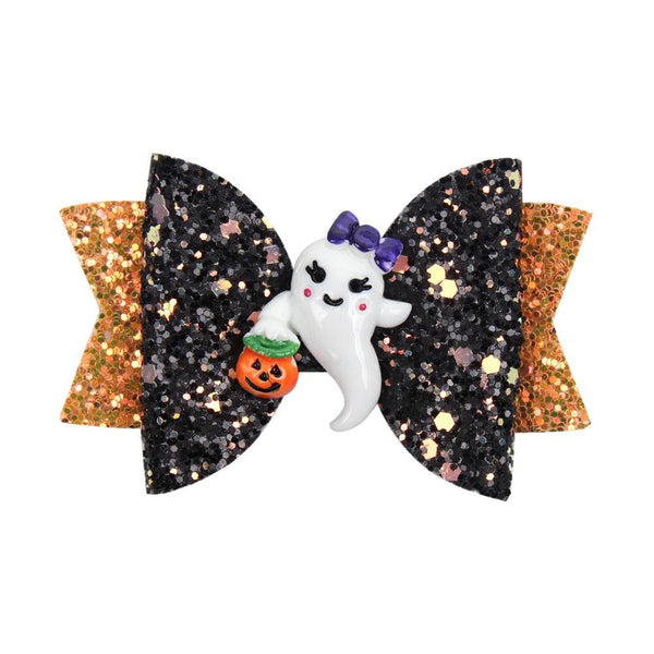 Ghastly Ghost Halloween Hair Clip - halloween - School Uniform Hair Accessories - Ponytails and Fairytales