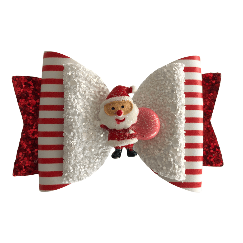 Glittery Christmas Santa Hair Clip christmas Ponytails and Fairytales