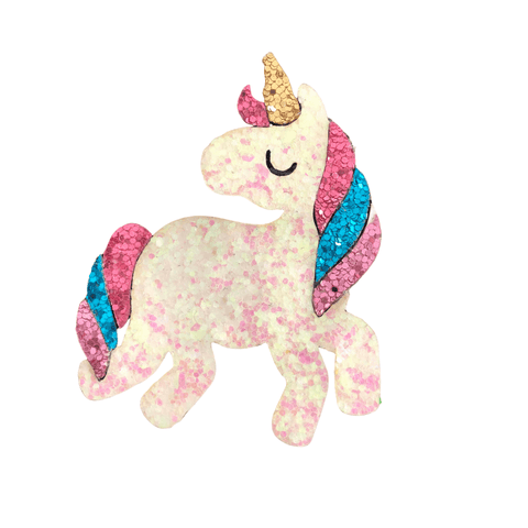 Glittery Unicorn Clip Hair clips Ponytails and Fairytales