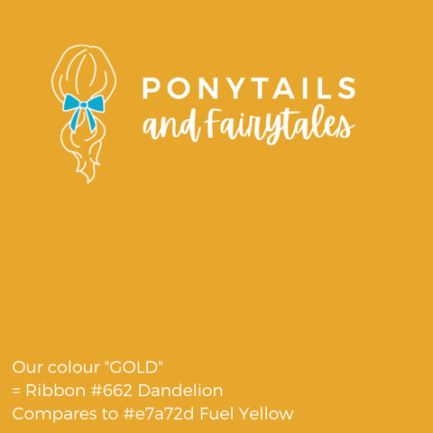 Gold Hair Accessories - Ponytails and Fairytales