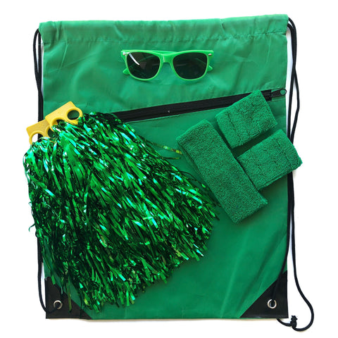 Green Carnival Bag - Carnival and event - School Uniform Hair Accessories - Ponytails and Fairytales