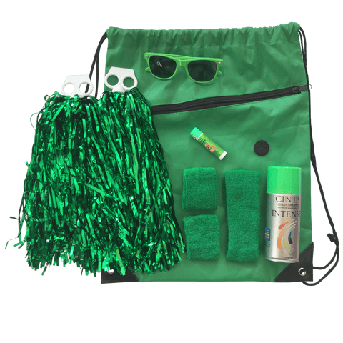 Green Team Sports Day Range - Carnival and event - School Uniform Hair Accessories - Ponytails and Fairytales