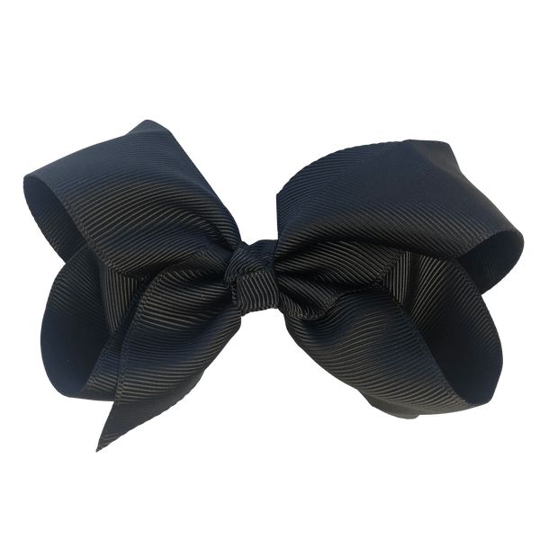 Initial / Letter Big Bow - Hair clips - School Uniform Hair Accessories - Ponytails and Fairytales