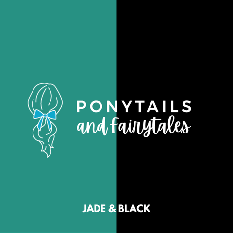 Jade & Black Hair Accessories - Ponytails and Fairytales