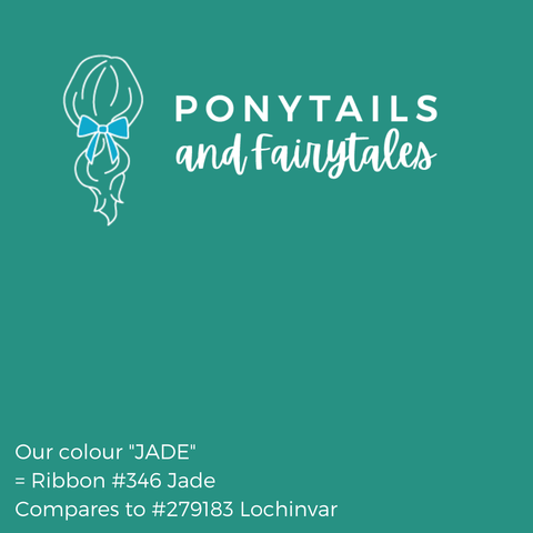 Jade Hair Accessories - Ponytails and Fairytales