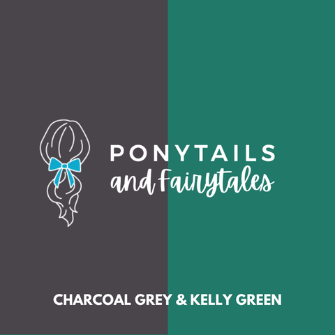 Kelly Green & Grey Hair Accessories - Assorted Hair Accessories - School Uniform Hair Accessories - Ponytails and Fairytales