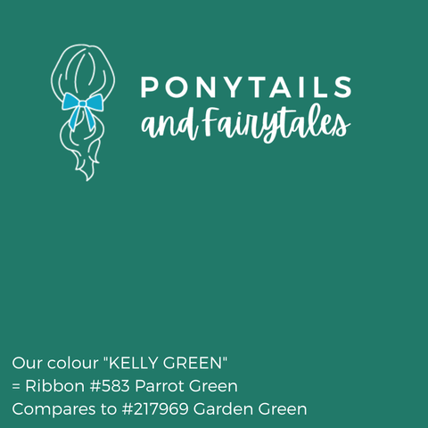 Kelly Green Hair Accessories - Ponytails and Fairytales