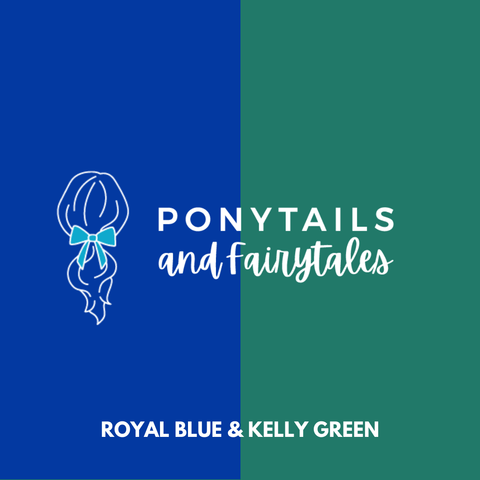 Kelly Green & Royal Blue Hair Accessories Assorted Hair Accessories School Ponytails - Colours
