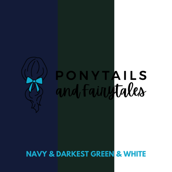 Kindy Basics Kit (20pc) School kits School Ponytails - Multibuys Darkest Petrol Green & Navy & White