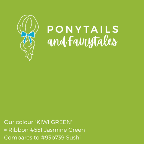 Kiwi Green Hair Accessories - Assorted Hair Accessories - School Uniform Hair Accessories - Ponytails and Fairytales