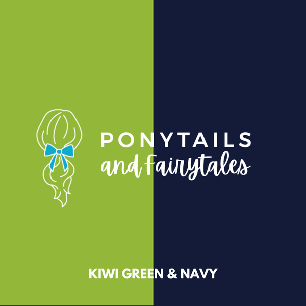 Kiwi Green & Navy Hair Accessories - Assorted Hair Accessories - School Uniform Hair Accessories - Ponytails and Fairytales