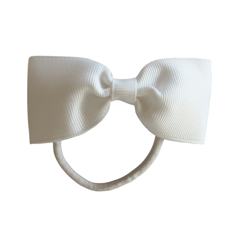 Large Bowtie Hair Tie - hair ties - School Uniform Hair Accessories - Ponytails and Fairytales