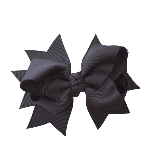 Layered Bows - Solid Colours - Hair clips - School Uniform Hair Accessories - Ponytails and Fairytales