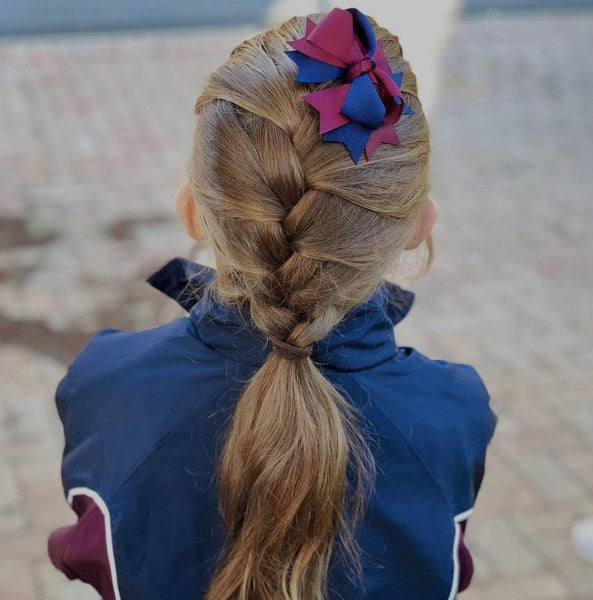 Layered Bows - Combined Colours - Hair clips - School Uniform Hair Accessories - Ponytails and Fairytales
