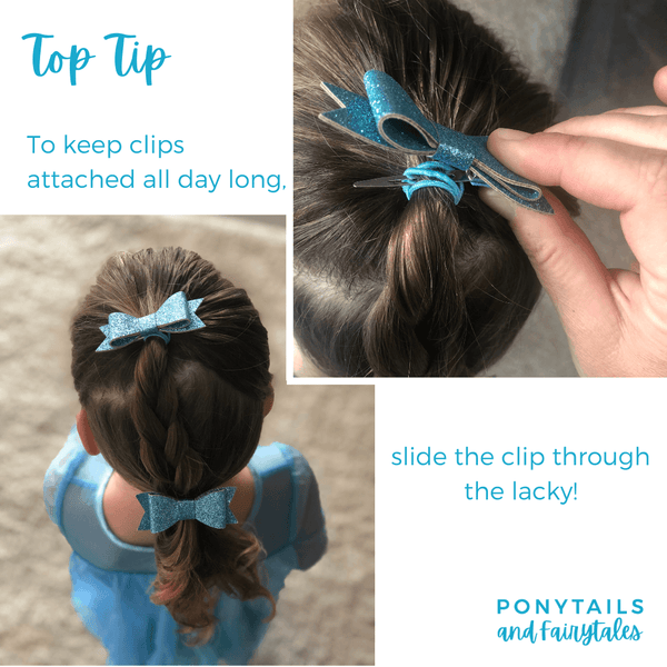 Layered Bows - Solid Colours Hair clips School Ponytails