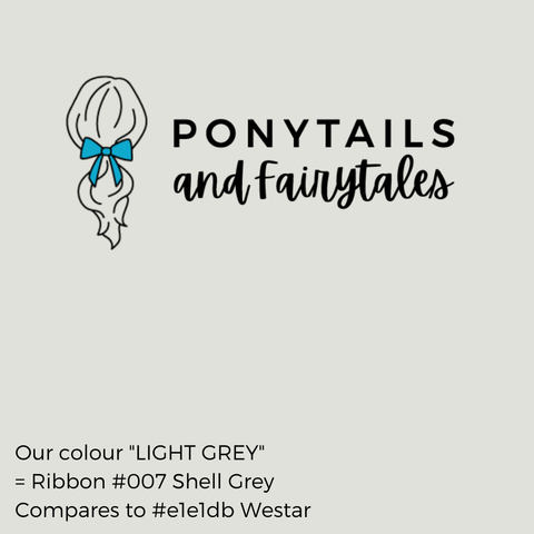 Light Grey and Silver Hair Accessories - Ponytails and Fairytales