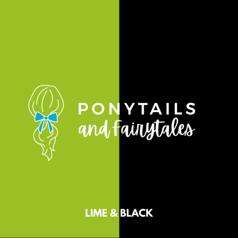 Lime & Black Hair Accessories - Assorted Hair Accessories - School Uniform Hair Accessories - Ponytails and Fairytales