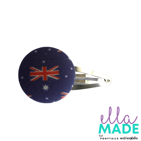 Limited Edition: Aussie Aussie Aussie Covered Buttons Hair clips Ella Made