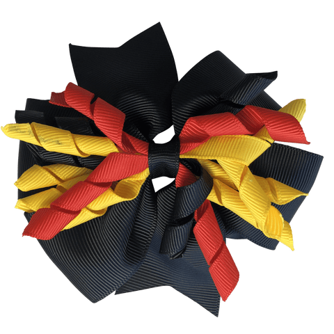 Aboriginal Colours - Red Yellow & Black Hair Accessories - Assorted Hair Accessories - School Uniform Hair Accessories - Ponytails and Fairytales